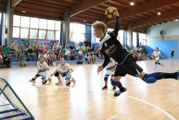 Johann Bärwinkel von der SG Urbich im Spiel gegen Italien B