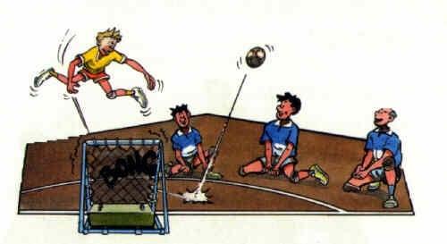 Tchoukball-Spielregeln: Der Ball kommt nach dem Wurf in der verbotenen Zone auf